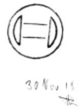 Эскиз логотипа Bosch выполненного Готтлобом Хонольдом в 1918 г.